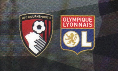 Bournemouth and Lyon club badges