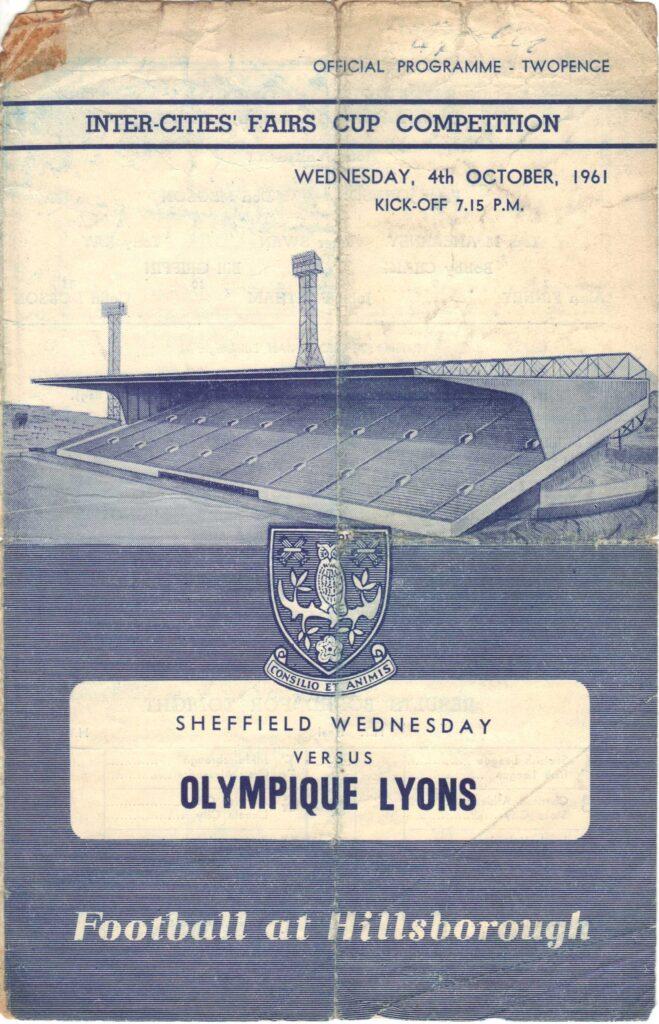Sheffield Wednesday v Lyon programme cover