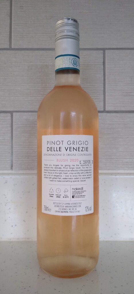 Stefano Di Blasi Pinot Grigio bottle rear